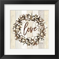 Framed Love Cotton Wreath