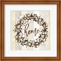Framed Home Cotton Wreath