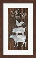 Framed Metal Farm Animal Stack