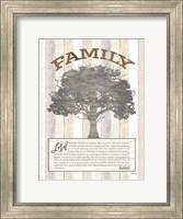 Framed Family Prayer Tree