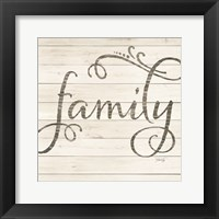 Framed Simple Words - Family