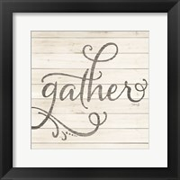 Framed Simple Words - Gather