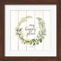 Framed My Happy Place Wreath