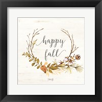 Framed Happy Fall
