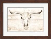 Framed Cow Skull
