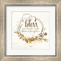 Framed Bless Our Home Fall Foliage