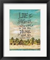 Framed Live in the Sunshine