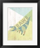 Framed Rawr Dinosaur