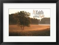Framed Let Faith Be Your Guiding Light