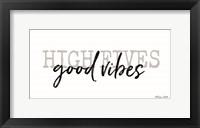 Framed High Fives Good Vibes