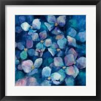 Framed Midnight Blue Hydrangeas with Gold