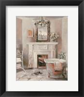 Framed French Bath IV Gray and Blush