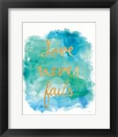 Framed Sea Glass Saying Love