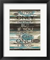 Framed Blue Zephyr Quote I v2