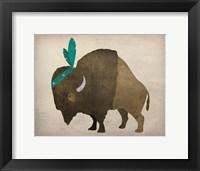 Framed Buffalo Bison III
