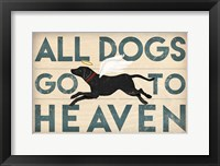 Framed All Dogs Go to Heaven I