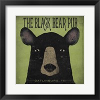 Framed Black Bear Pub