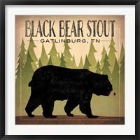 Framed Take a Hike Bear Black Bear Stout