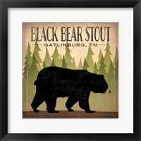 Framed Take a Hike Bear Black Bear Stout