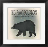 Framed Ursa Major Big Paw Bourbon