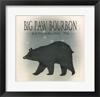 Framed Ursa Major Big Paw Bourbon