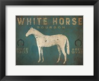 Framed White Horse No Kentucky