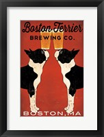 Framed Boston Terrier Brewing Co Boston