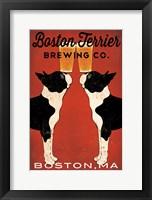 Framed Boston Terrier Brewing Co Boston
