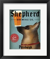 Framed German Shepherd Brewing Co Pittsburgh Black