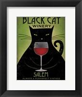 Framed Black Cat Winery Salem