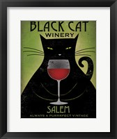Framed Black Cat Winery Salem