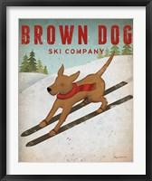 Framed Brown Dog Ski Co