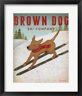 Framed Brown Dog Ski Co