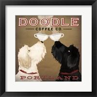 Framed Doodle Coffee Double IV Portland