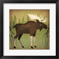 Framed Take a Hike Moose no Words