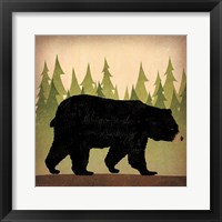 Framed Take a Hike Bear no Words