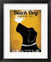Framed Black Dog Coffee Co Seattle