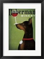 Framed Single Doberman Winery