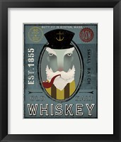 Framed Fisherman I Old Salt Whiskey