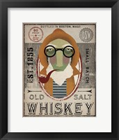 Framed Fisherman II Old Salt Whiskey