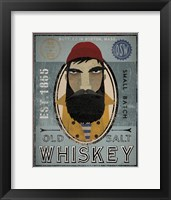 Framed Fisherman VI Old Salt Whiskey