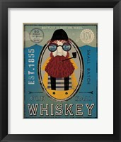 Framed Fisherman IV Old Salt Whiskey