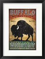 Framed Buffalo Whiskey
