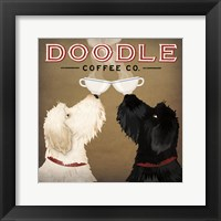 Framed Doodle Coffee Double IV