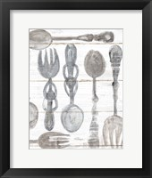 Framed Spoons and Forks III Neutral