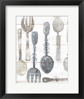 Framed Spoons and Forks II Neutral
