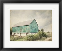 Framed Late Summer Barn I Crop Vintage