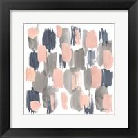Framed Grey Pink Mist I