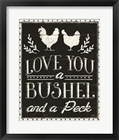 Country Thoughts V Black Framed Print