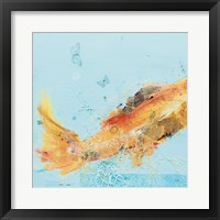 Framed Fish in the Sea I Aqua